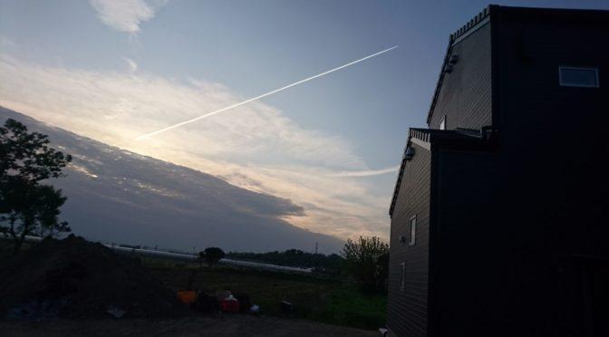 美しい飛行機雲!✨