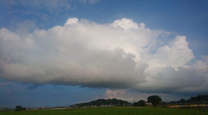 ヤバめの雲。😓