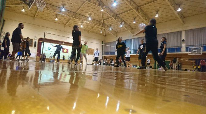 学級親善ビーチボールバレー大会。👍