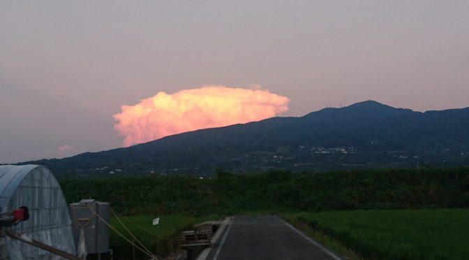 夕方の風景。😅