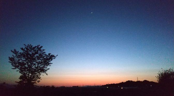 春の夕暮れ。✨