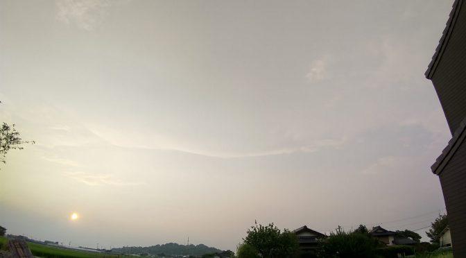 薄雲の夕空。✨