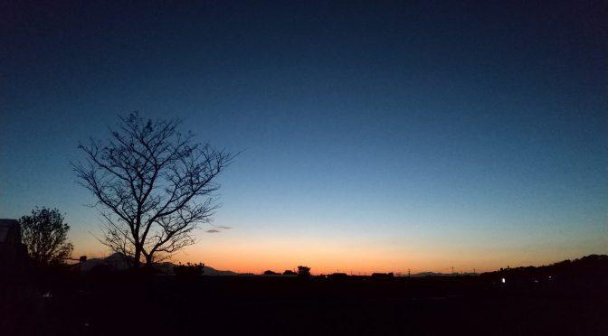 朝と夕方の景色😊