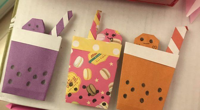 折り紙のタピオカ屋さん開店